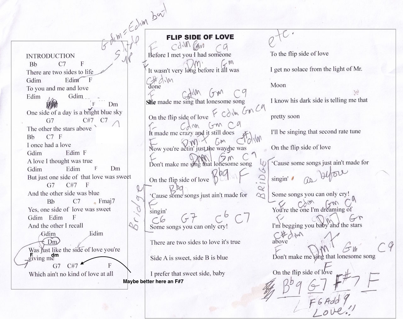 Chords and lyrics i cant give you anything but love into too medley and love hexwebz Choice Image