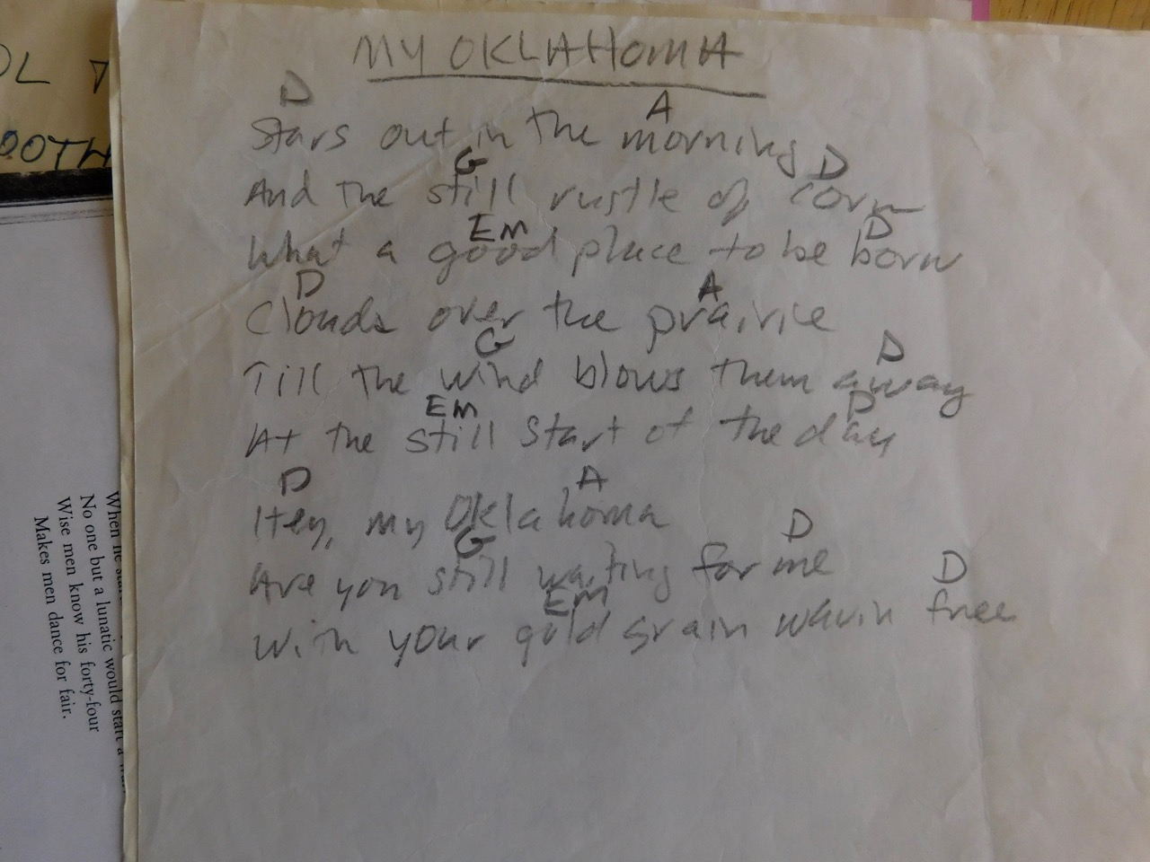 Chords and lyrics my oklahoma chords and lyricsg hexwebz Choice Image
