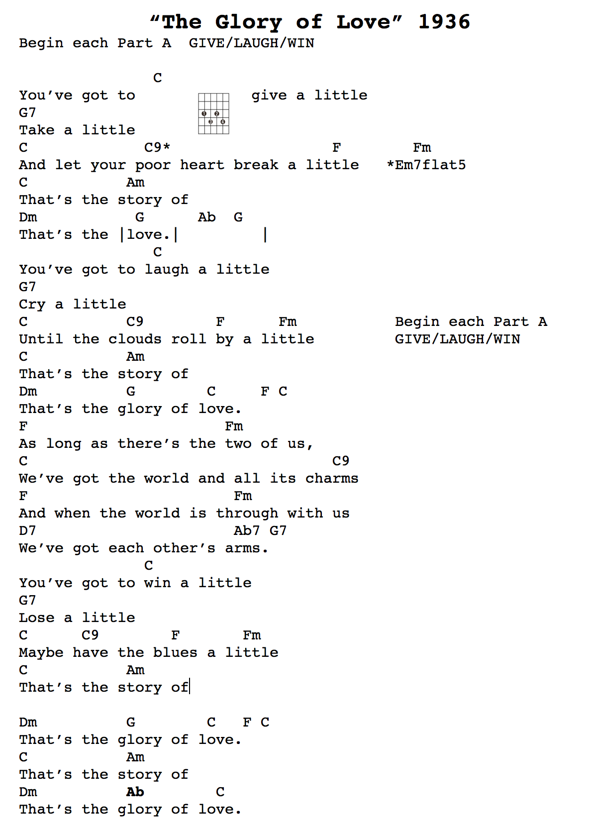 All about loving you lyrics and chords